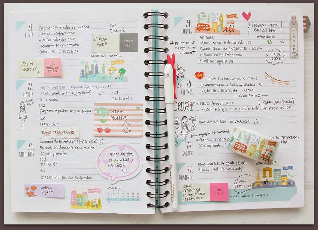 Organiza tu agenda, pero deja espacio…..